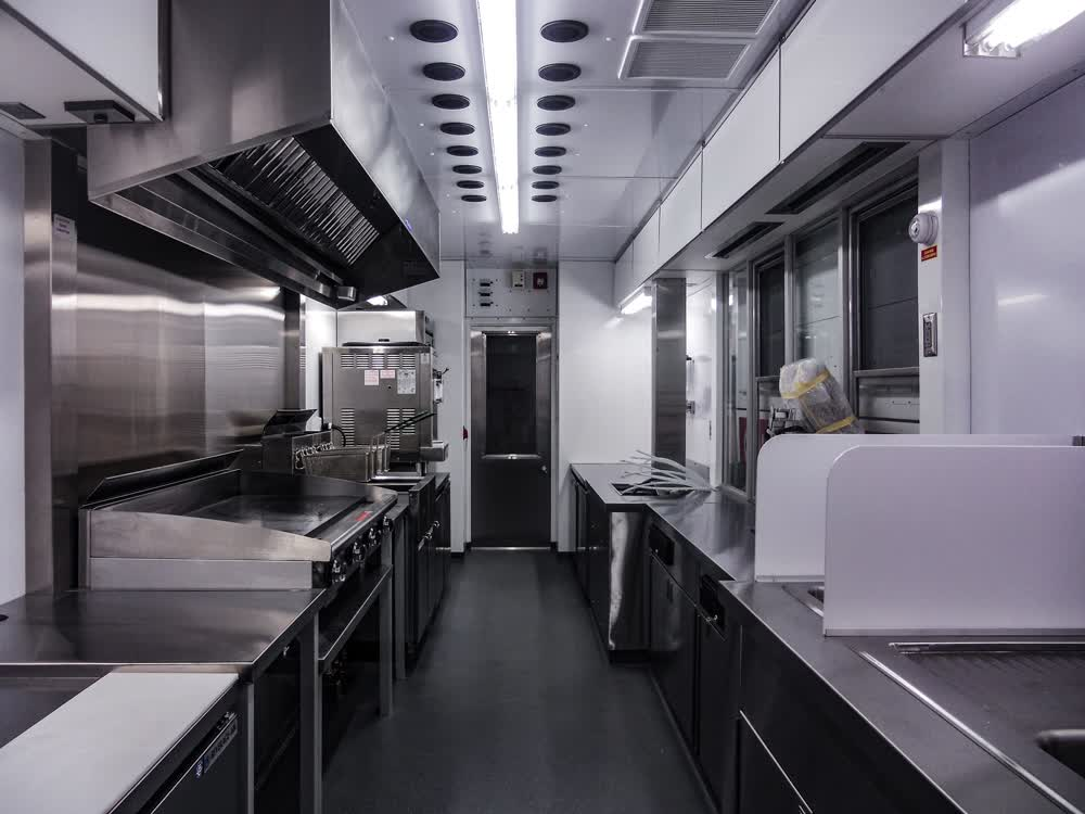 johnny rockets interior concession trailer