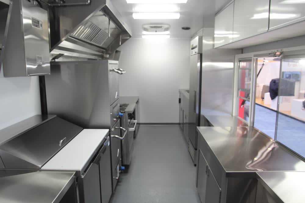 kitchen interior custom food truck builders