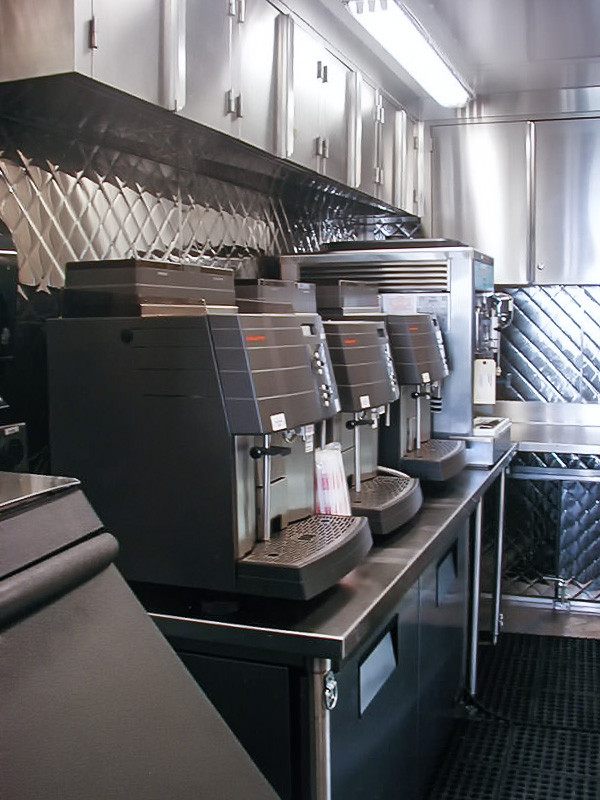 coffee machine commercial mobile kitchen trailer truck