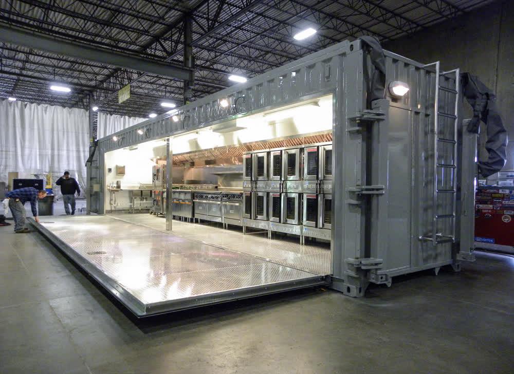 folding commercial mobile kitchen trailer truck