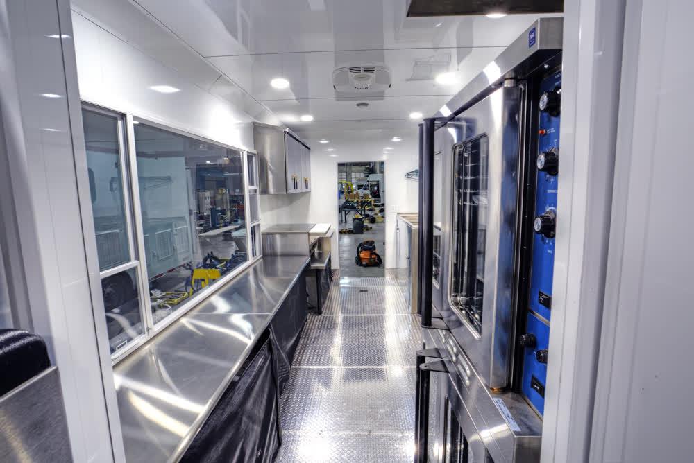 interior commercial mobile kitchen trailer truck