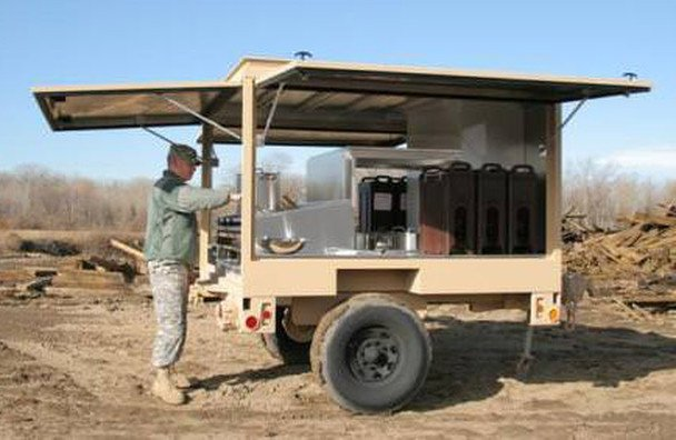 outdoor commercial mobile kitchen trailer truck