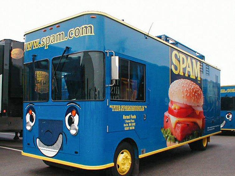 spam commercial mobile kitchen trailer truck