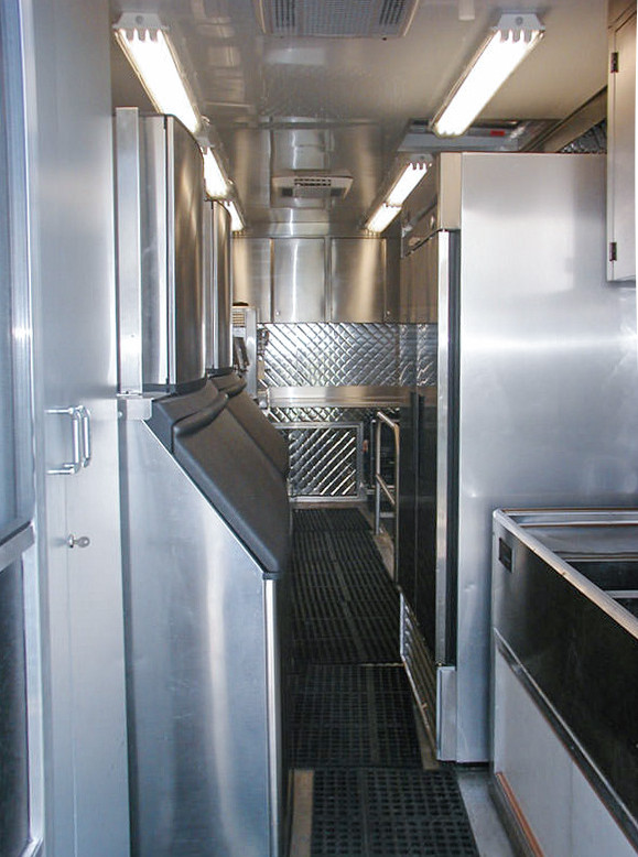 stainless steel ice machines commercial mobile kitchen trailer truck