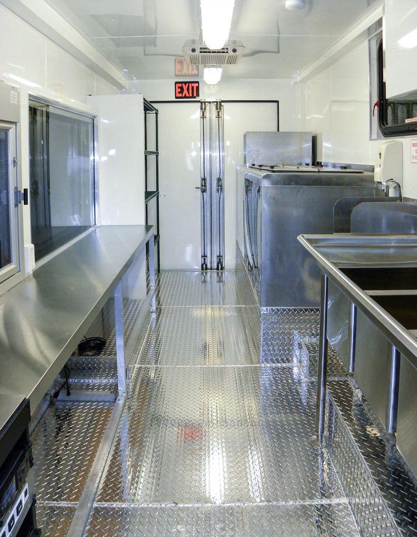 steel floor commercial mobile kitchen trailer truck