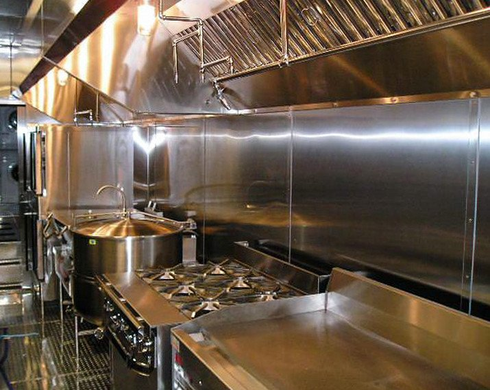 stove commercial mobile kitchen trailer truck