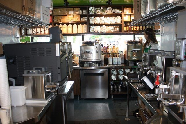 inside shipping container restaurant