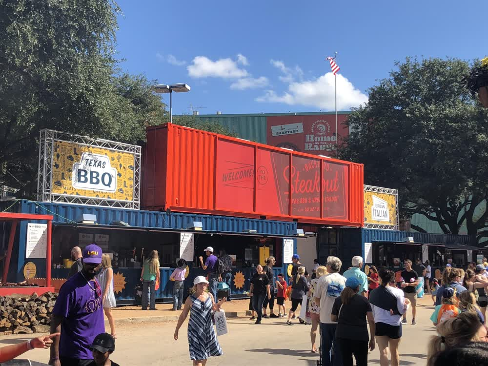 steak out shipping container restaurant