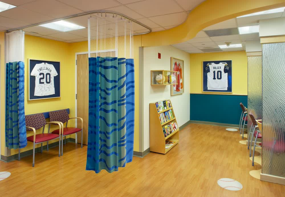 admitting room childrens hospital architectural signage companies
