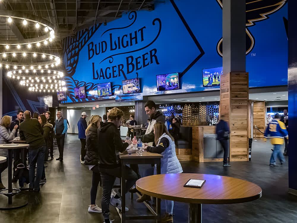 bud light lager beer architectural signage companies