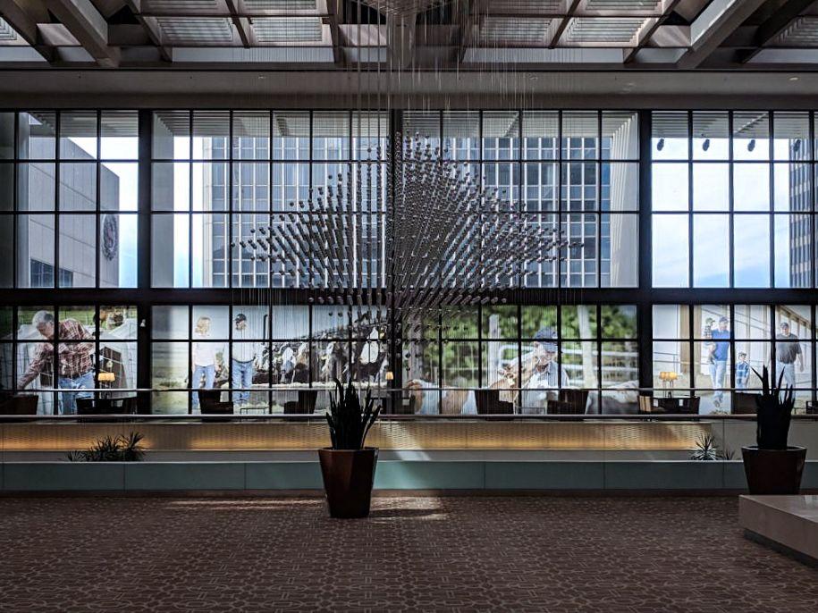 building lobby building wraps