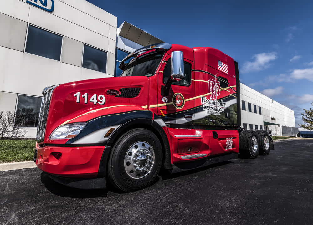 woody bogler trucking company custom vinyl graphics