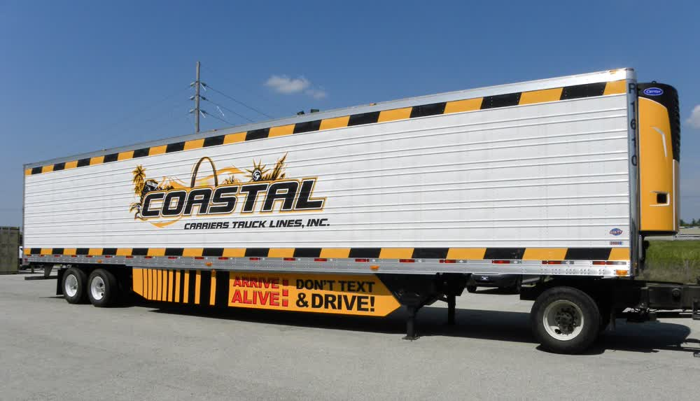 coastal carriers truck lines inc fleet graphics