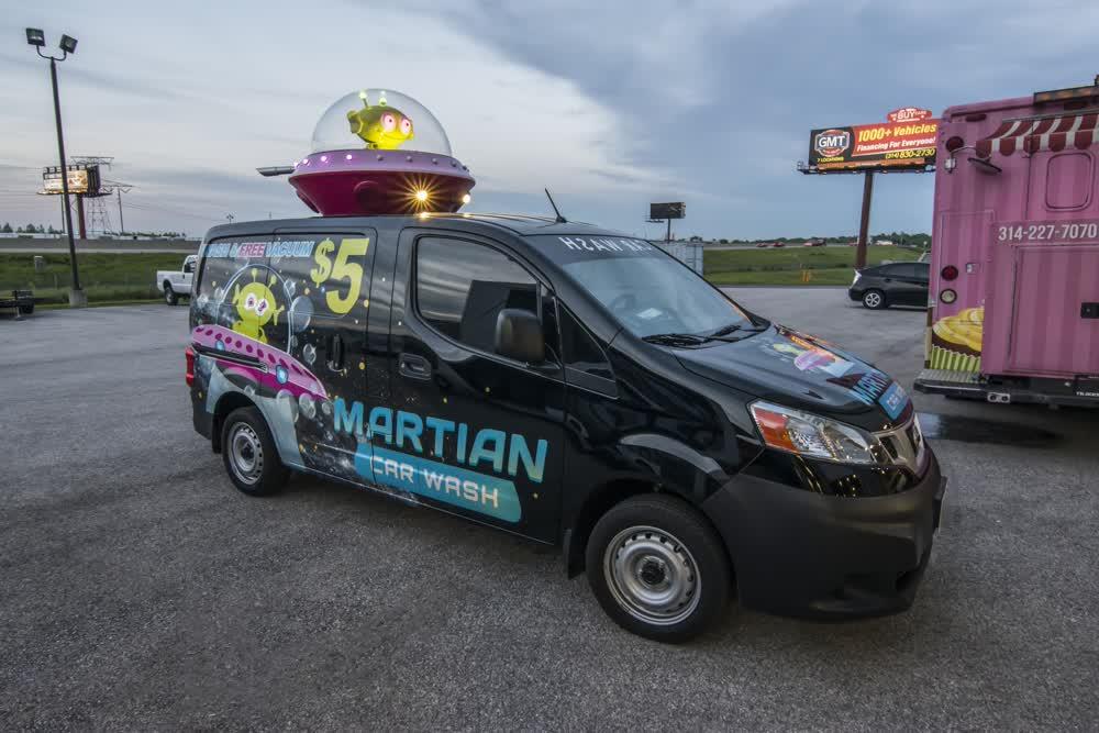 martian car wash fleet graphics