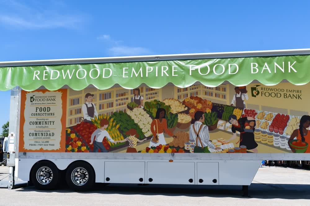 redwood empire food bank fleet graphics