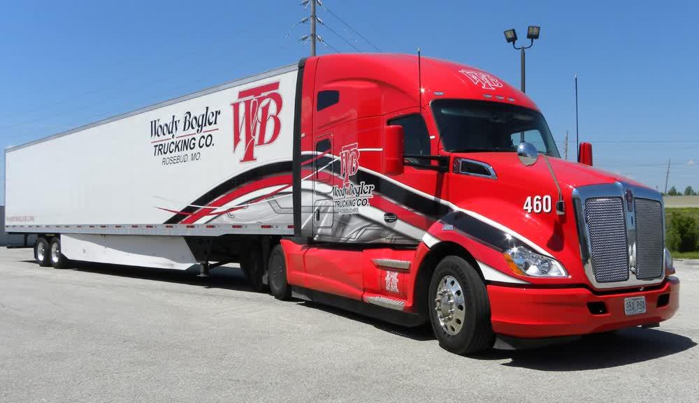 woody bogler trucking co fleet graphics