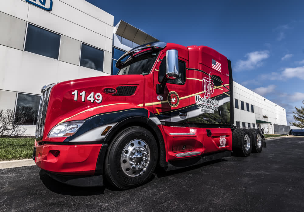 woody bogler trucking company fleet graphics