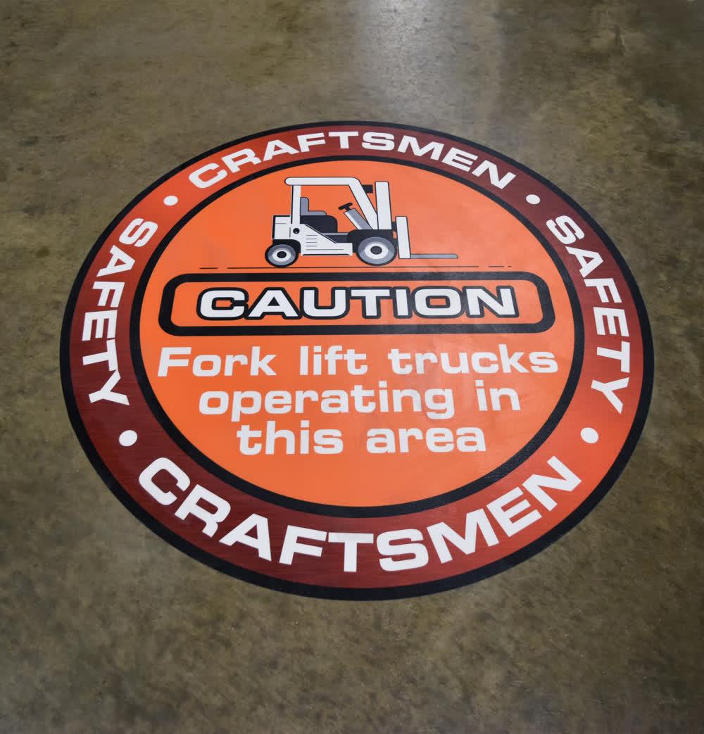 craftsman floor graphics