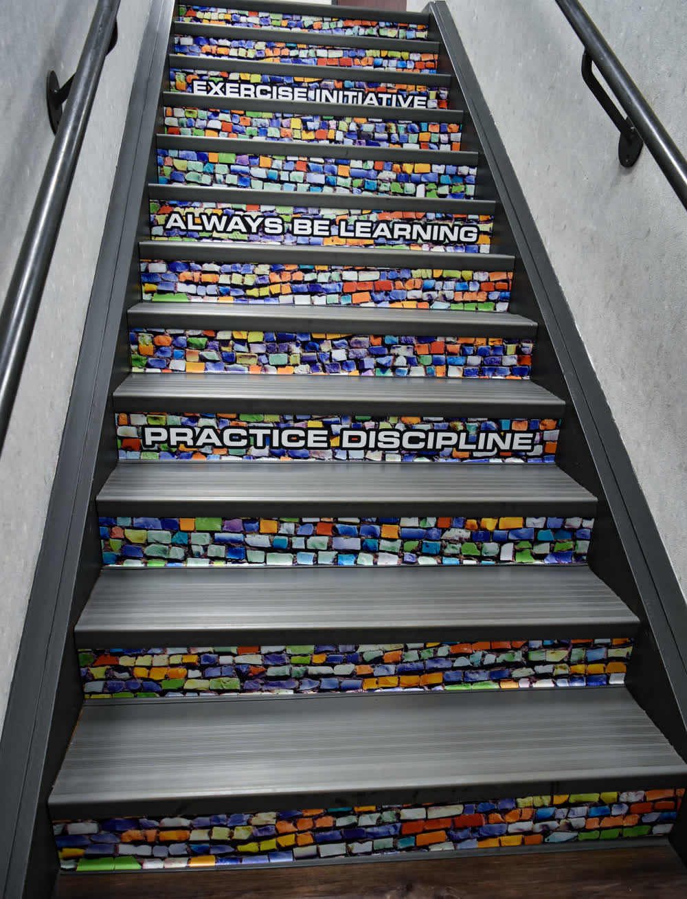 steps floor graphics