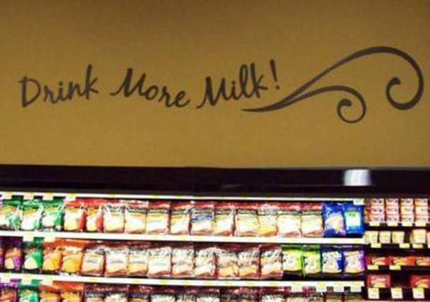drink more milk retail graphics
