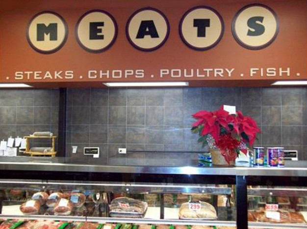 grocery meats retail graphics
