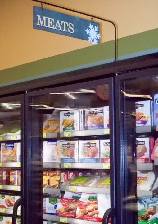 grocery store frozen foods retail graphics