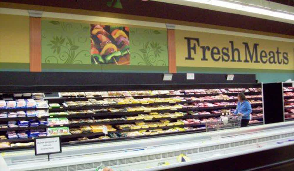 grocery store retail graphics