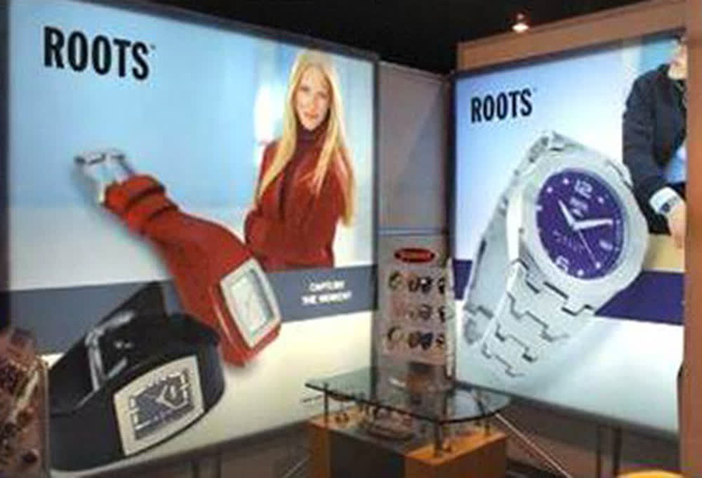 roots retail graphics