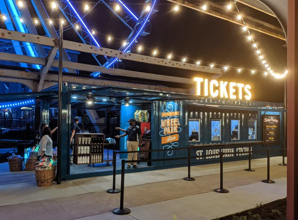 ticket booth retail graphics