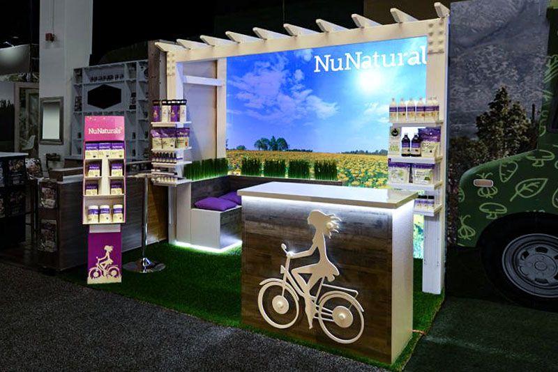 nunaturals trade show displays
