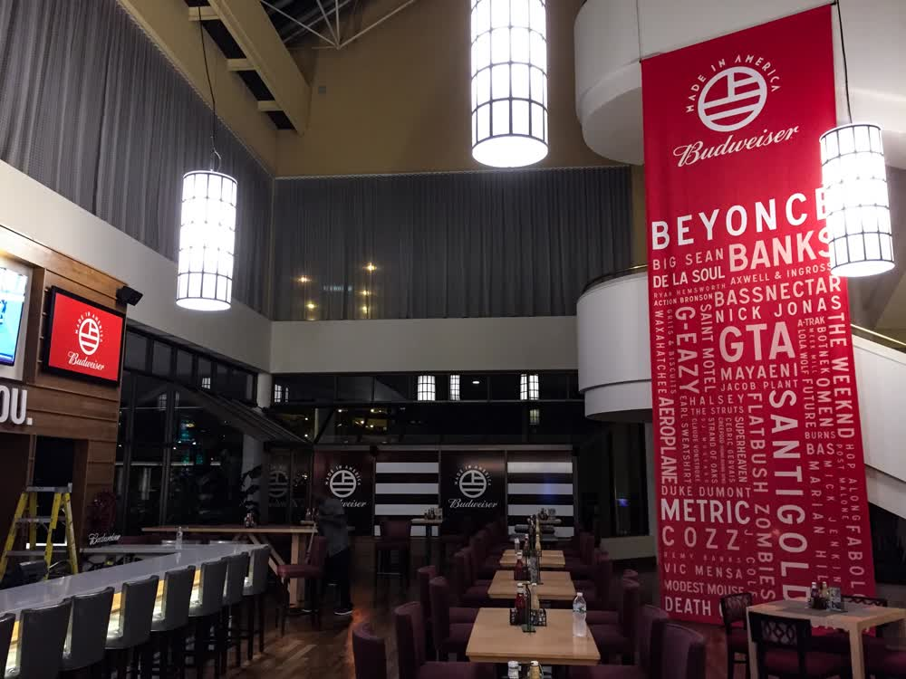 budweiser made in america banners
