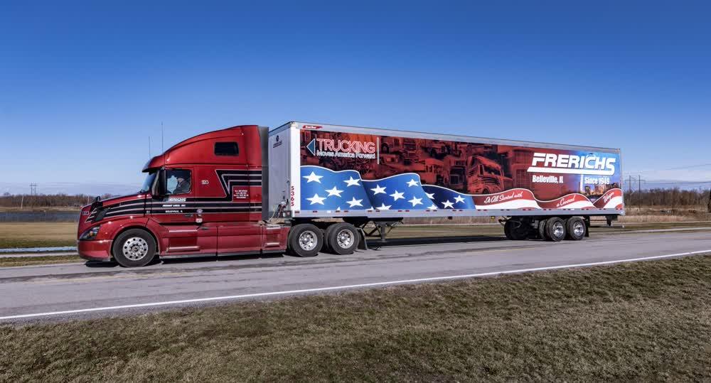 frerichs trucking vinyl car wrap