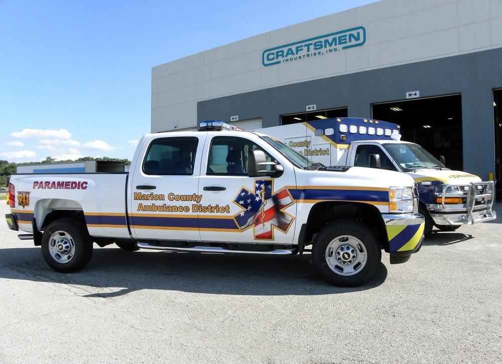 marion county ambulance vinyl car wrap