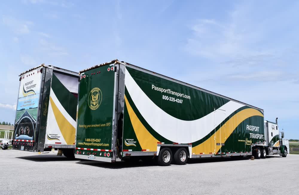 passport transport trucks vinyl car wrap
