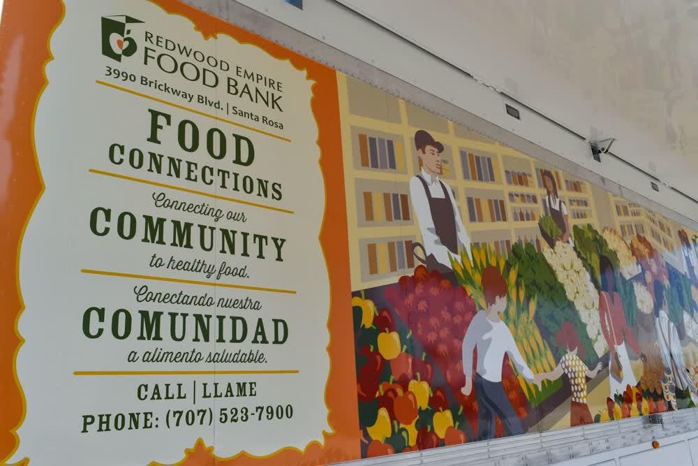 redwood empire food bank vinyl car wrap