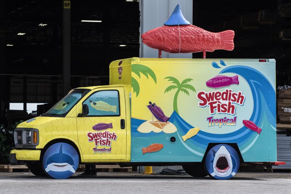 swedish fish tropical vinyl car wrap