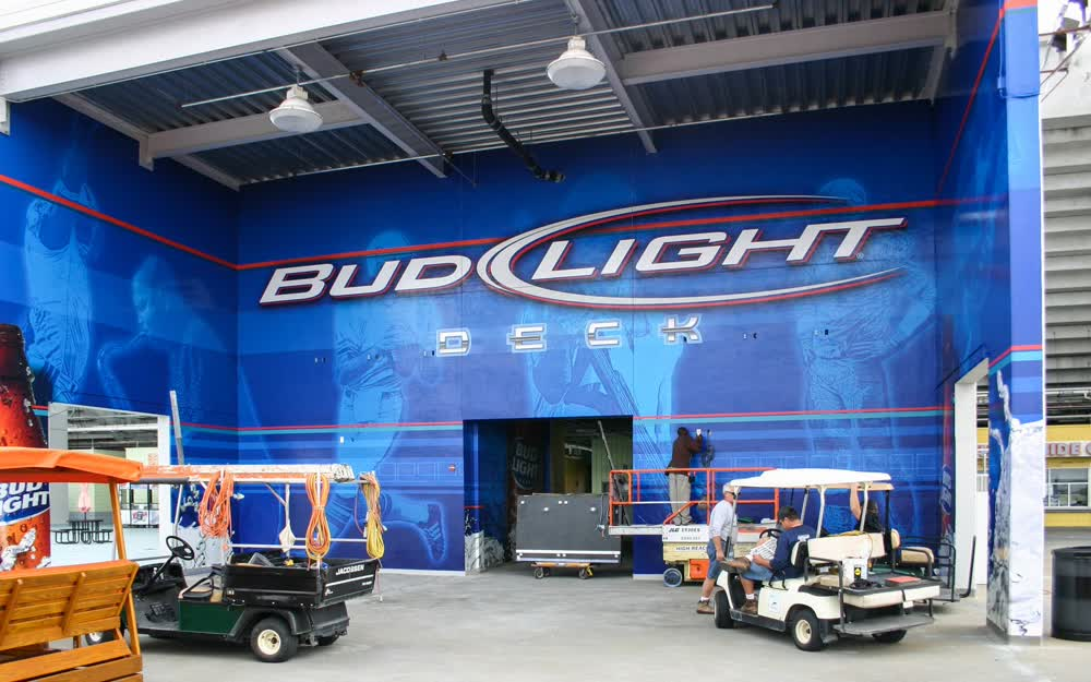 budlight wall decals graphics