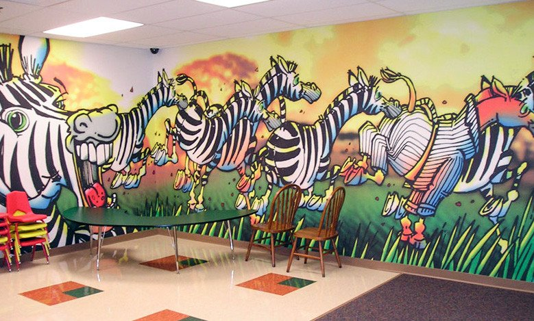 lunchroom wall decals graphics