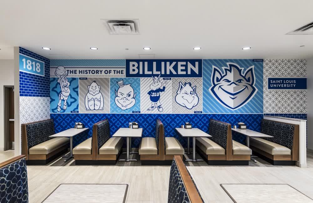 saint louis university locker room wall decals graphics