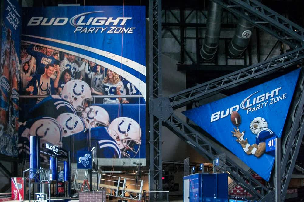 bud light party zone large format printing