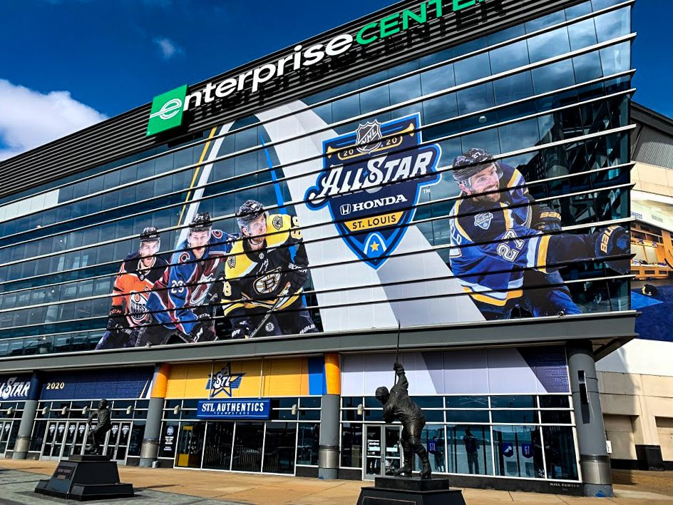 enterprise center front window graphics