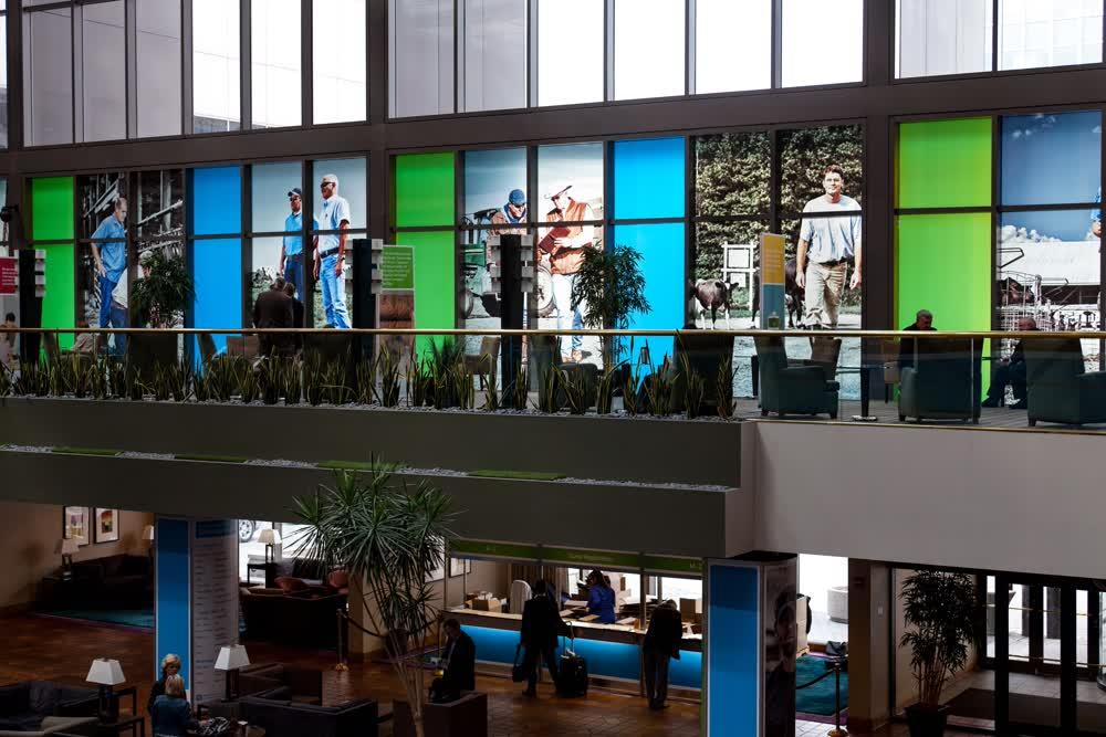 hotel lobby window graphics