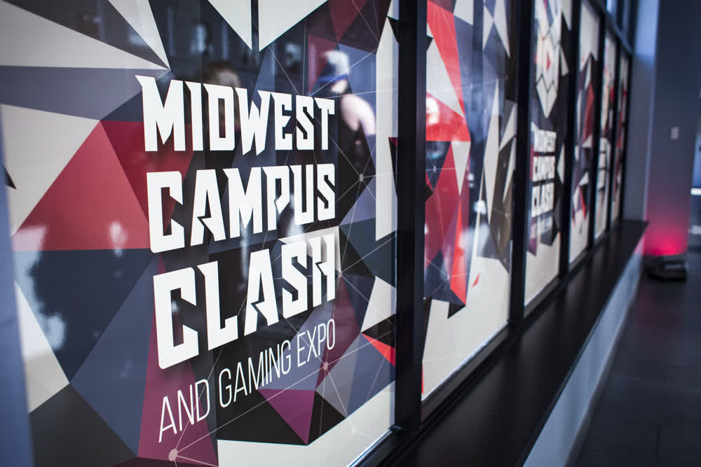 midwest campus clash window graphics