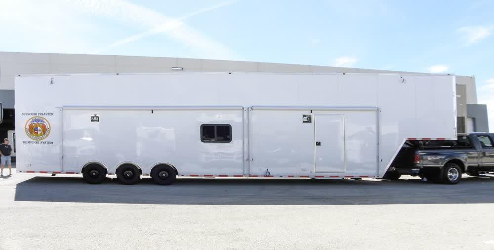 exterior mobile command center trailer