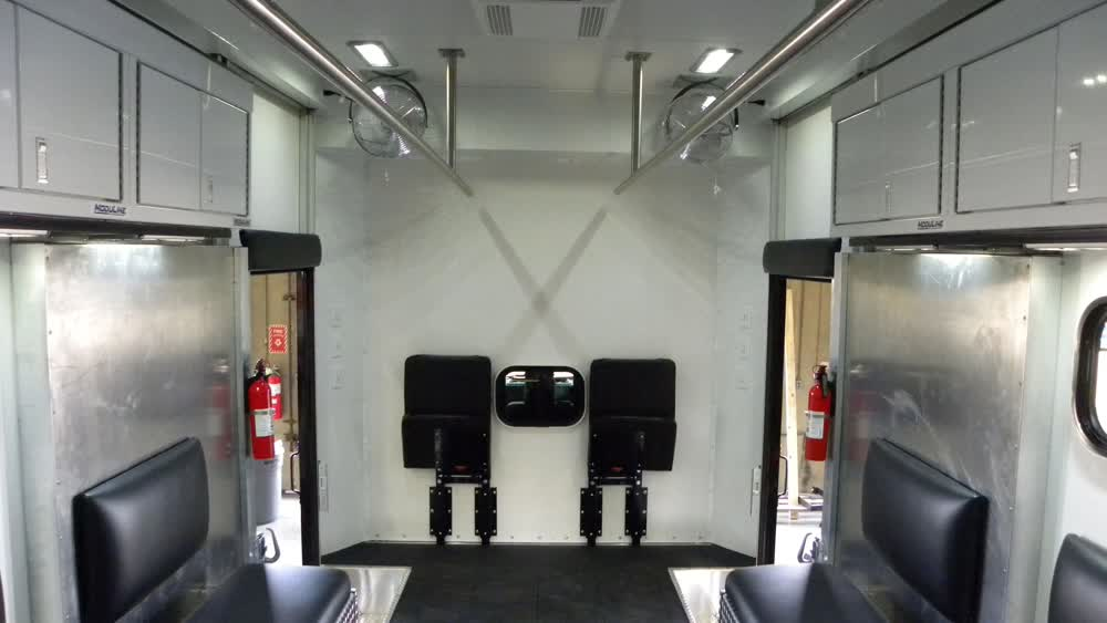 interior mobile command center trailer