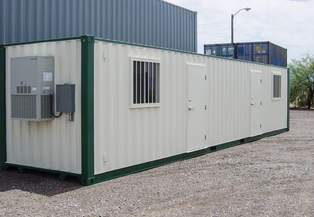 stationary mobile command center trailer