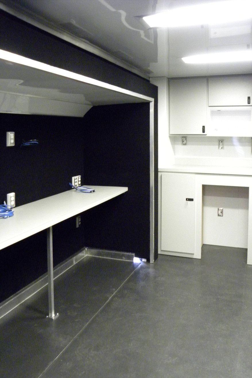 tables mobile command center trailer