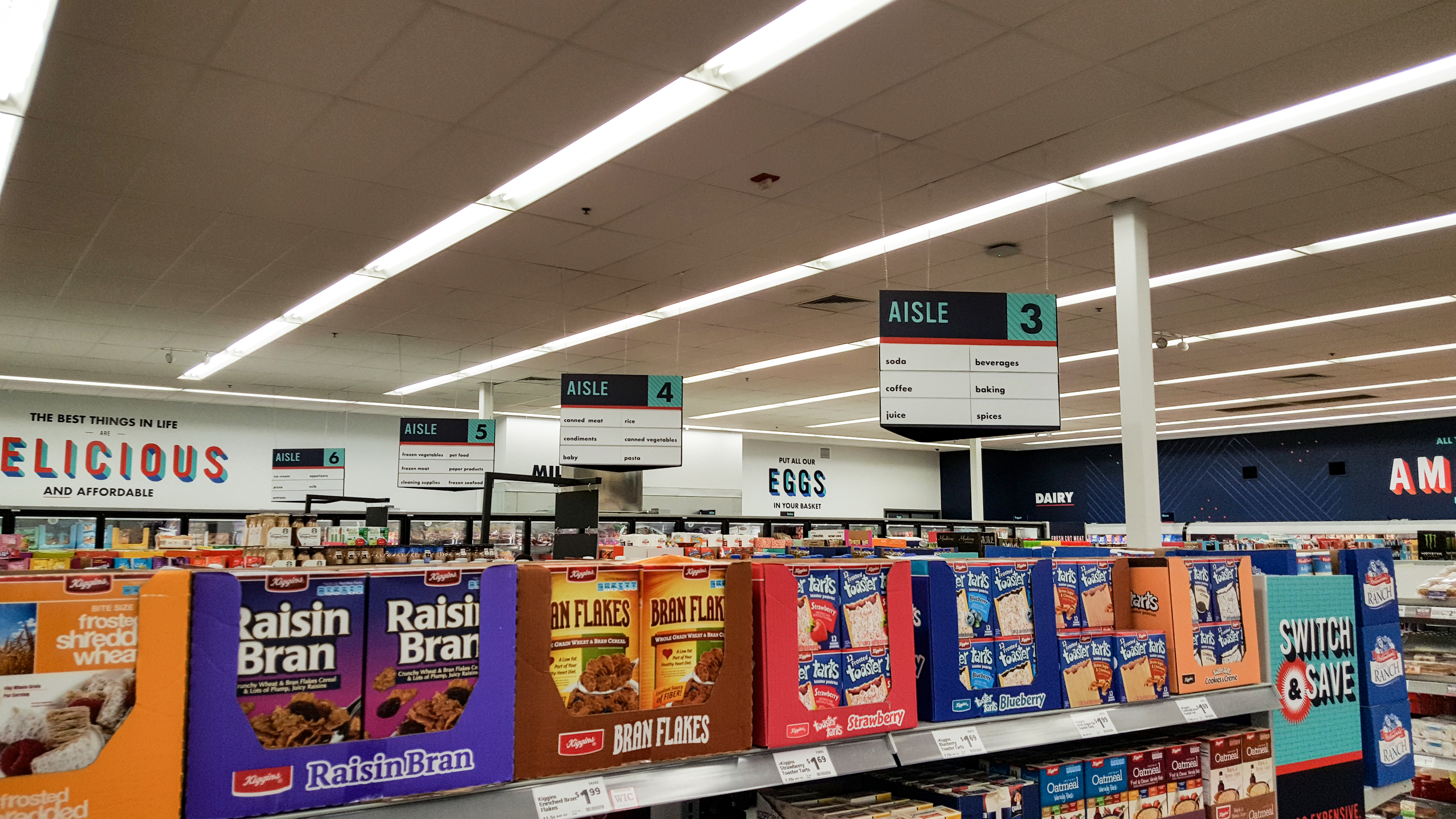 grocery retail graphics