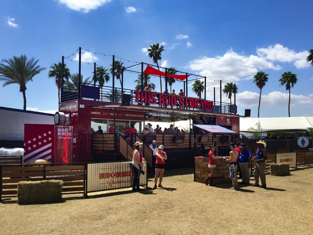 bud and burgers mobile stage trailer