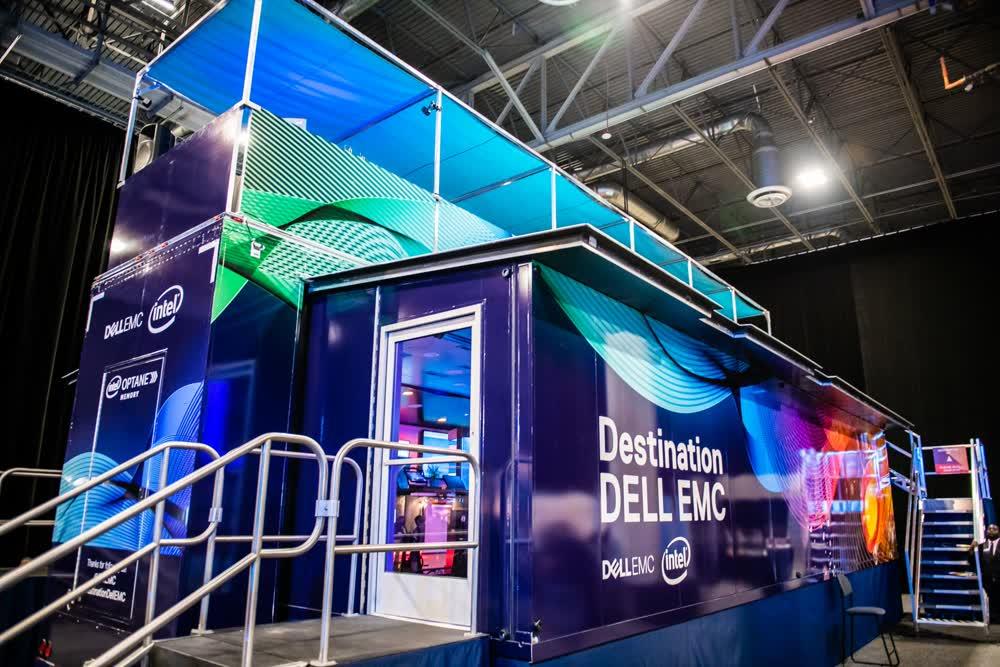 desination dell double expandable trailer